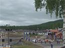 Speakern Tor och Ludvig Hunsbedts uppkörning i Höljes EM-rallycross