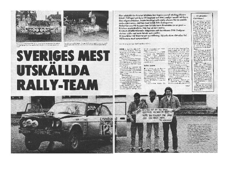 VM-delt�vlingen RAC-rallyt 1979 - ett riktigt �ventyr - del 2